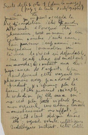 Antonin Artaud, Lettre à la voyante pour André Breton Février 1926.